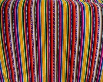 Peruvian  Fabric - aguayo  blanket - one yard-yellows