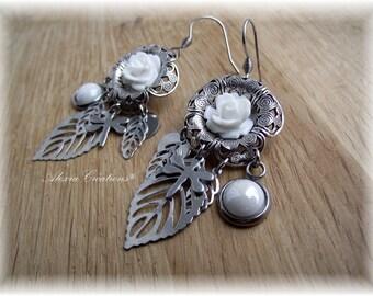 Vintage spring filigrre flowers earrings