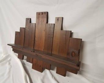 Reclaimed Pallet Wood Wall Shelf