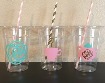 Tea Party Cups, Floral party cups