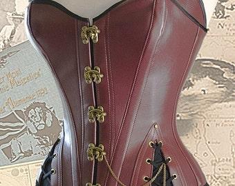 Corset Pattern, Pirate Corset, Digital Download Sewing Pattern, Steampunk, Gothic, Larp,  MEDIUM,  Pdf pattern, Cosplay, Free Photo Tutorial