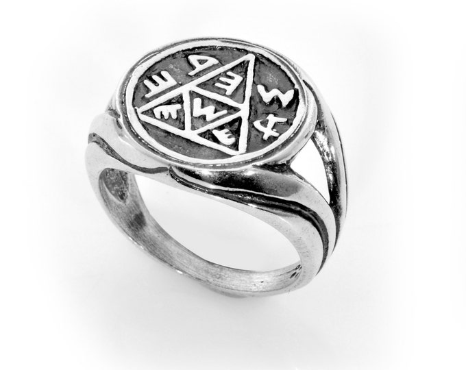 Pregnancy & Conception 925 Sterling Silver Amulet Ring - Choose Size