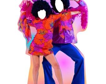 70's Disco Dance Couple Standin