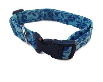 Boy Dog Collar, Ready To Ship Collar, Medium or Large Fabric, Adjustable