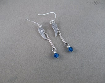 Daryl Dixon Wing Charm Earrings - The Walking Dead - Silver Charms