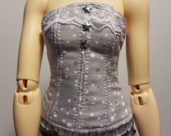 Minifee grey overbust corset