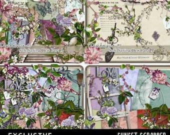 Soft Spring Dew Printable Digital Scrapbooking Kit by Digidesignresort