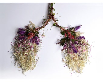 Lungs made of flowers photograph print