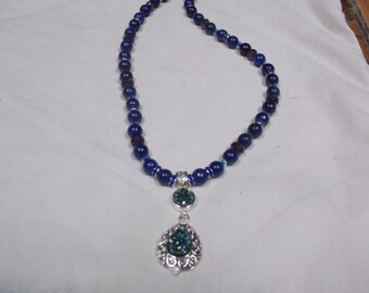 Hand made one of a kind Necklace Lapis