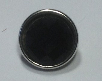 NEW! 12mm MINI SNAP.. Beveled black stone