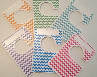 6 closet dividers any size - adult or baby chevron Large clothing separators 1.5 inch rods Closet Doodles® CLG7
