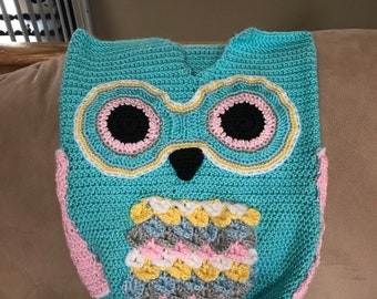 Owl blanket photo prop