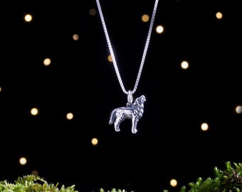 Sterling Silver Howling Wolf - Small, 3D Double Sided - (Charm Only or Necklace)