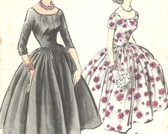 Advance 8415 Vintage 1950s Sewing Pattern By Anne Fogarty Dress Size 13 Bust 33