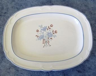 Cordella Collection Bluet Stoneware Oval Serving Platter