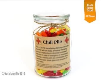 Funniest Chill Pill VARIOUS themes Self adhesive LABELS
