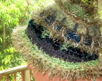 CUSTOM ORDER a Unique Freeform Crochet Warm Winter Snow Hat