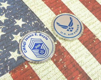 US AIR FORCE Challenge Coin Retirement Promotion Custom Personalized Memorial Coin USaf Logo Name Rank Military Gift