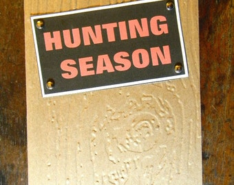 Hunter Birthday Greeting Card, Embossed Happy Birthday Card, Hunting Season Birthday Card, Handmade Greeting Cards