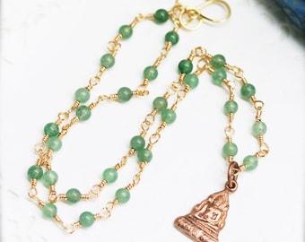 Chinnarat Sakyamuni amulet necklace - aventurine (BA)