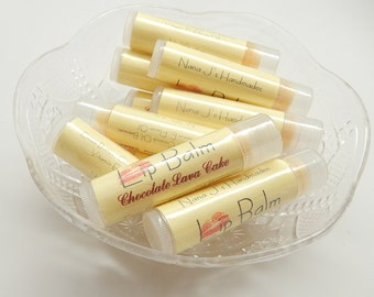 Lip Balm - chapstick - 4 tubes-your choice of flavors - all natural - vegan -  0.15 oz. each tube stocking stuffers, party gifts