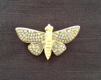 "1930's off white ""butterfly"" brooch."