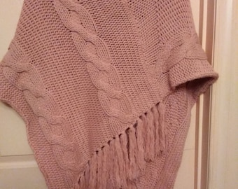 Vintage Dusty Rose Women's Poncho