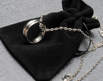 Supernatural Dean Winchester's steel ring on a silver tone necklace – Supernatural cosplay replica jewelry / jewellery