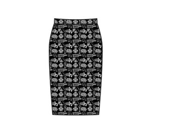 Victorian Gothic Paraphernalia long pencil skirt - this item is made to order only