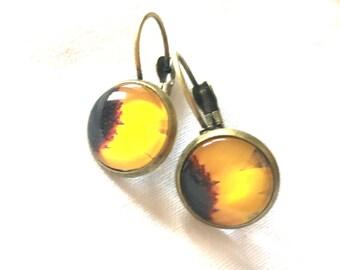 Earrings Sunflower yellow