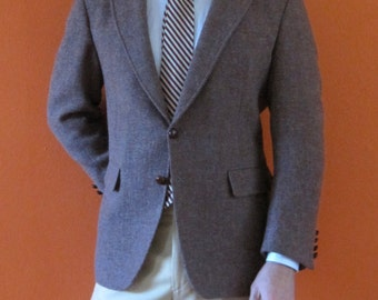 Beige Harris Tweed Jacket sz 42S