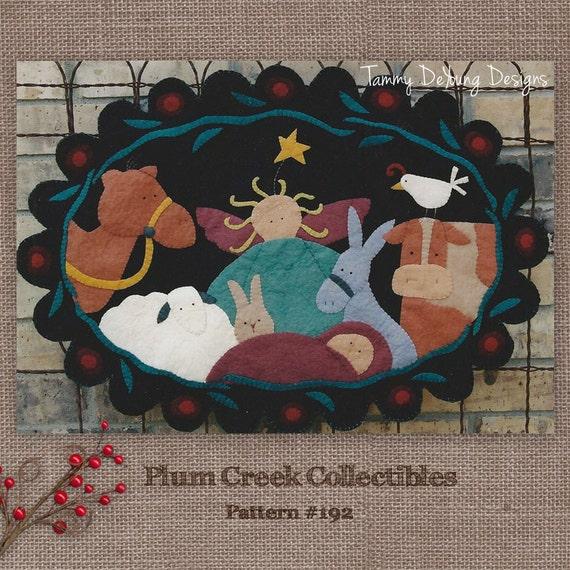 Christmas Nativity Table Mat Pattern, wool felt applique pattern ...