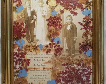 1928 Customized Framed Tom Thumb / Jennie June Wedding Invitation, Tranquility, N.J.