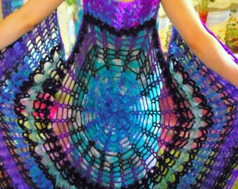 Mandala Spiderweb Renaissance Medieval Gothic Vest Dress Choose Your Color