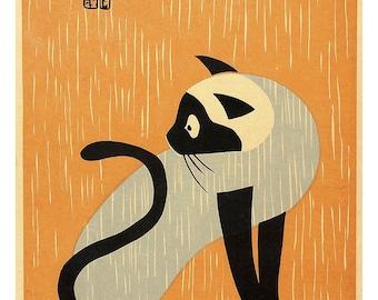 Poster - Early Cat - Asai Kiyoshi - 1940 - fine art gallery