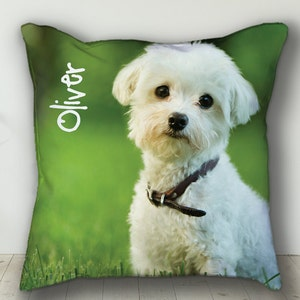 Custom PERSONALIZED Pet Pillow, Personalized Dog or Cat Photo Throw Pillow, Beautiful Memorial Keepsake Gift Idea for Pet Lovers