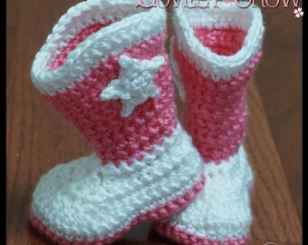 Crochet Pattern  Western Boots TODDLER BOOT SCOOTN Boots digital