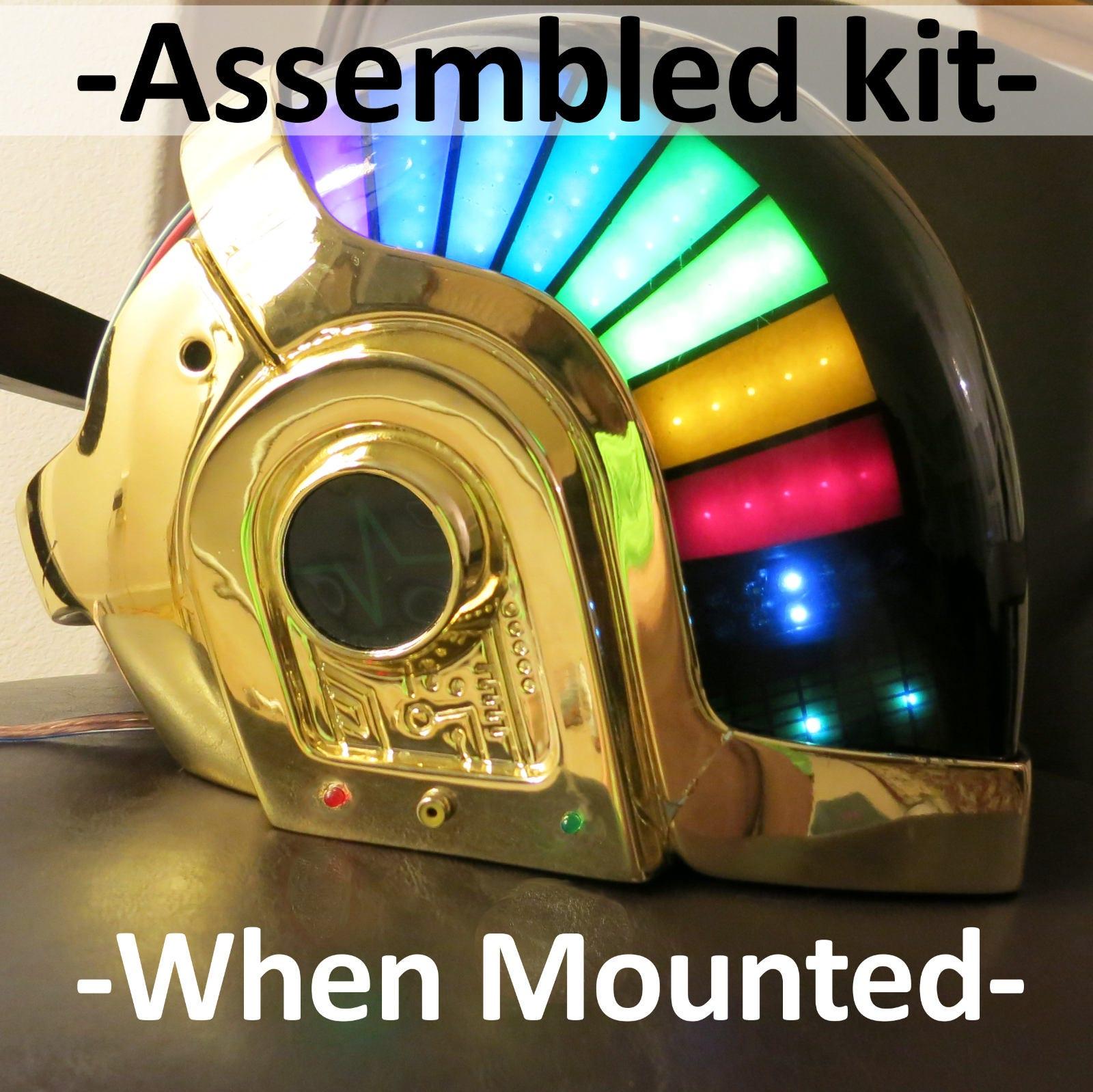 LED kit Guy Manuel Daft Punk for helmet Assembled