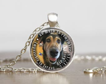 Dog Memorial Necklace, Custom Dog Pendant, Pet Photo Memories, Personalized Pet Necklace, Custom Made Photo Necklace with your Pet Photo