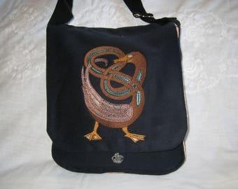 Knotwork Duck Haversack  - wool and silk