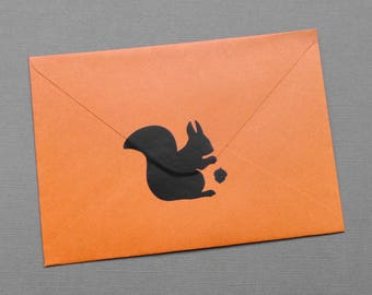 24 Squirrel stickers w/wo acorn, squirrel decals, squirrel envelope label, woodland animal labels, squirrel party favors, invitation seal
