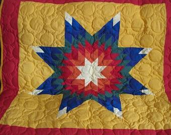 baby rainbow star quilt