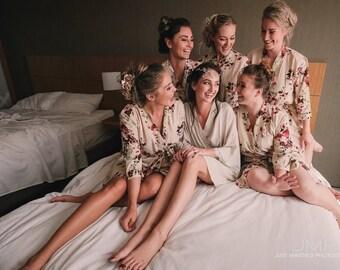 Set of 6 Bridesmaid Robes, bridesmaid robe, bridesmaid robes set of 6, 6 bridesmaid robes, Set of 6 bridal party robes, bridesmaid robes