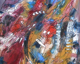 Modern painting Abstract Rhapsodie