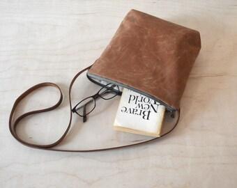 Shoulder Bag, Crossbody Bag in Sienna Waxed Canvas - Cross Body Purse