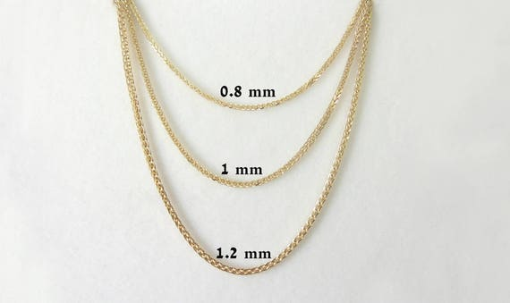 chain necklace color tri gold triple