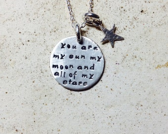 You are my sun, my moon, and all my stars -Hand Stamped By Simag