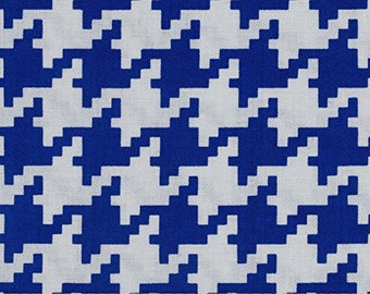 """END OF BOLT- 29""""X44"""" Royal Blue Houndstooth From Michael Miller's Everyday Houndstooth Collection"""