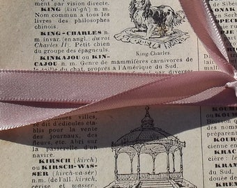 Bundle Vintage French Book Pages Illustrated Dictionary aged 1930s sheets prints