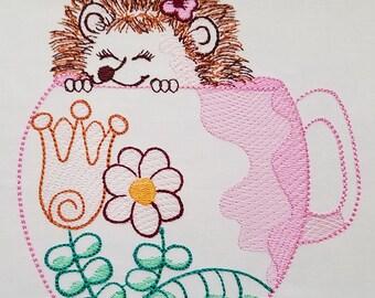 Happy Hedgehog - Machine Embroidery Design